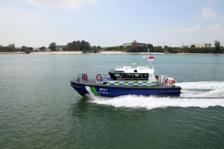 A pair of Camarc Pilot/Patrol launches joining the Singapore MPA fleet.